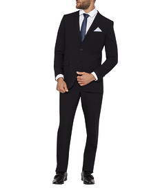 Mens Slim Fit Nested Suit Ink with Blue Pin Dot
