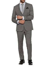 Mens Slim Fit Nested Suit Charcoal Sharkskin
