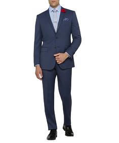 Mens Slim Fit Nested Suit Birdseye