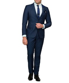 Men's Slim Fit Nested Suit Ink Fine Check