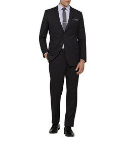 Mens Slim Fit Nested Suit Dark Charcoal