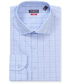 Slim Fit Shirt Blue Contrast Window Check
