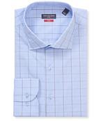 Slim Fit Shirt Blue Contrast Window Check