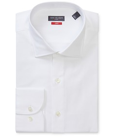 Slim Fit Shirt White Herringbone