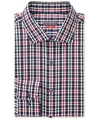 Slim Fit Shirt Mars Red Layered Check
