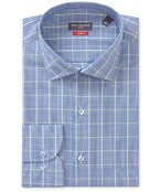 Slim Fit Shirt Navy Contrast Check