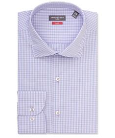 Slim Fit Shirt Mauve and Blue Contrast Check