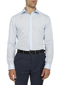 Mens Slim Fit Shirt Sky Blue Solid