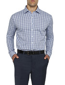 Mens Slim Fit Grey Check