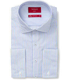 Slim Fit Shirt White with Blue Stripe