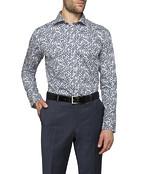 Mens Slim Fit Shirts Floral Leaf Pattern