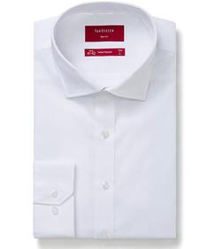 Mens Slim Fit Shirt White Self Texture