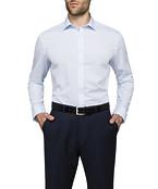 Mens Slim Fit Shirt Blue Self Texture