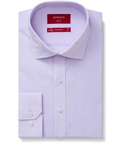 Slim Fit Shirt Mauve Self Texture