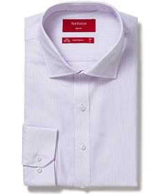 Men's Slim Fit Shirt Mauve Vertical Stripe