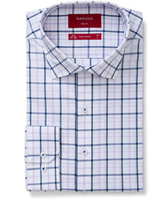 Slim Fit Shirt Mauve and Navy Check