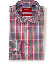 Slim Fit Shirt Navy Red Check