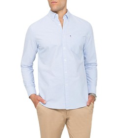 Mens Casual Shirt Solid Colour