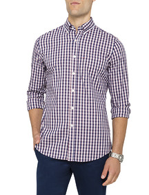 Mens Casual Shirt Orange Multi Check