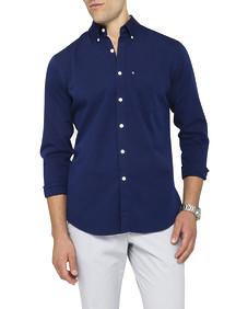Mens Casual Shirt Navy Solid