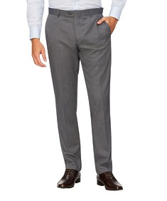 Slim Fit Business Trousers Grey Nailhead