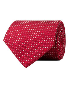 Mens Tie Red with White Diamond Check