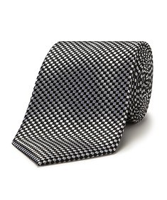 Mens Tie Navy Mini Check
