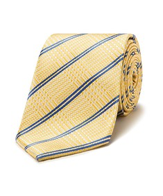 Mens Classic Tie Gold Plaid