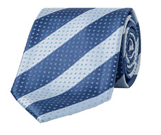 Mens Tie Blue Stripes and Dots