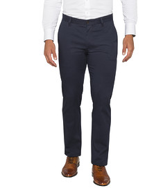 Euro Tailored Casual Chino Navy Patterned