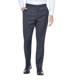 Euro Tailored Fit Business Trouser Black Birdseye