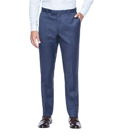 Euro Tailored Fit Business Trouser Navy Subtle Stripe