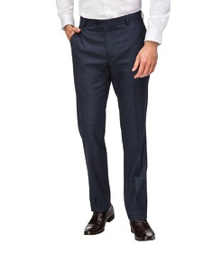 Euro Tailored Fit Business Trousers Ink Check