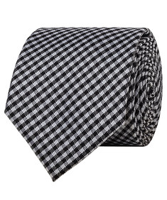 Mens Tie Black White Check