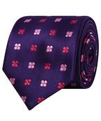 Mens Tie Purple Pink Florals