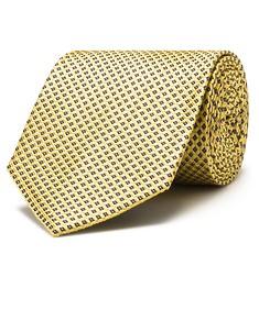 Silk Neck Tie Gold Diamond