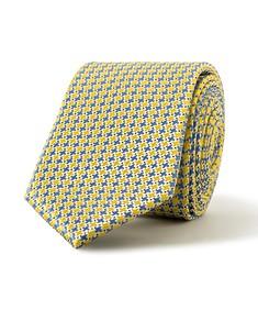 Tie Yellow Geo Pattern