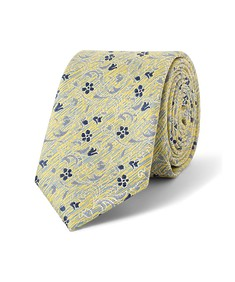 Tie Yellow Navy Floral