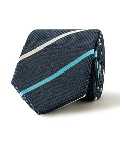 Tie Navy Contrast Stripe