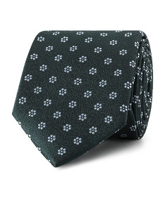 Tie Green Navy Floral