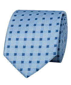 Mens Tie Blue Square Navy Check