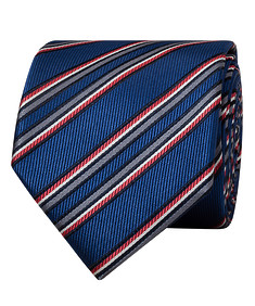 Mens Tie Navy Red and Green Stripe