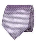 Mens Tie Lilac Silver Check