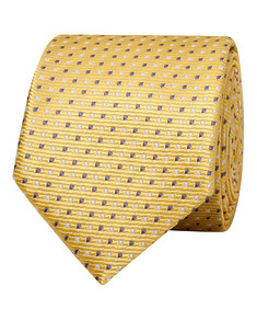 Mens Tie Lemon with Square Pattern