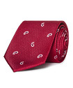 Mens Slimline Tie Red with Paisley Tear Drop