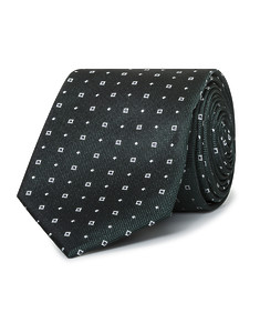 Mens Slim Tie Green with Square Design