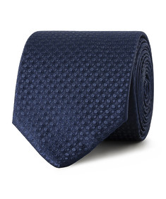 Tie Navy Circle Pattern