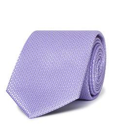Mens Slim Tie Lilac Geo Print