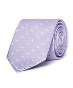 Mens Slim Tie Lilac with Spot Print