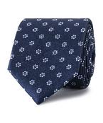 Tie Navy Textured Floral